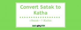 Convert Satak to Katha