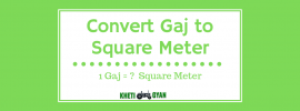 Convert Gaj to Square Meter