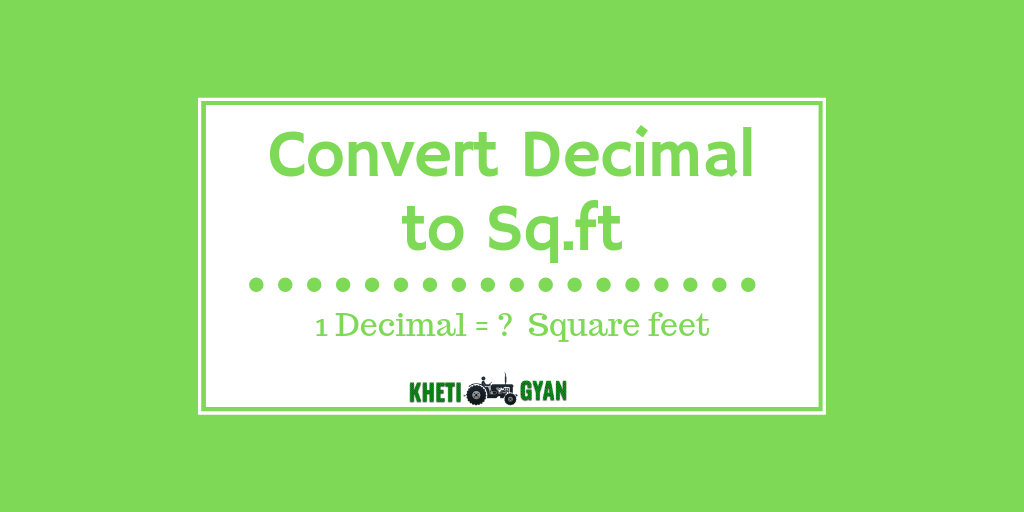 Convert decimal to square feet
