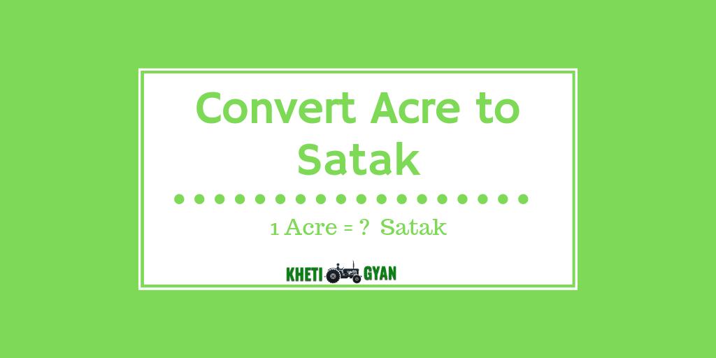 Convert Acre to Satak