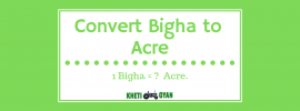 Convert Bigha to Acre