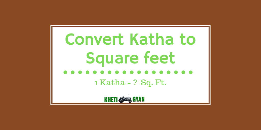 Convert katha to square feet