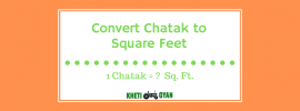 Chatak to Square Feet