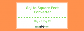 Gaj to Square Feet Converter