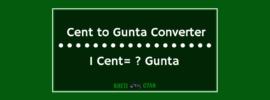 Cent to Gunta Converter